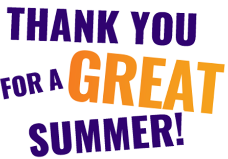 Thank You for a Great Summer!